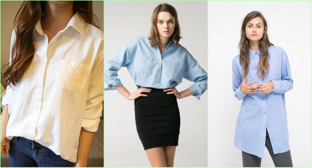 "Блузки-рубашки в ""мужском"" стиле"