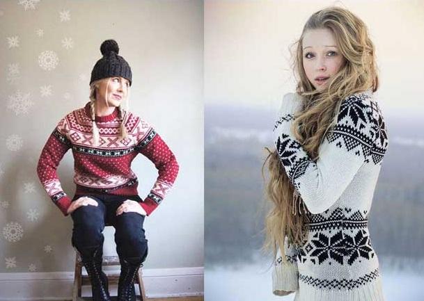 С чем сочетать скандинавский свитер