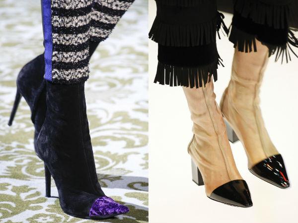 Сапоги с комбинированным носком