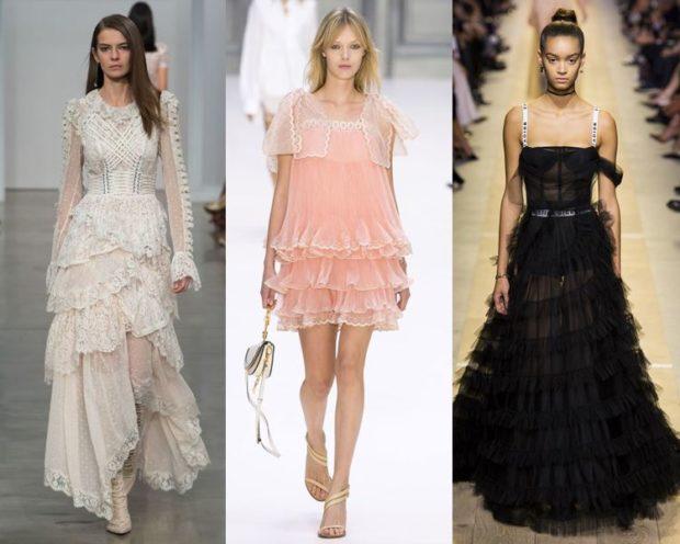 Многоярусные платья